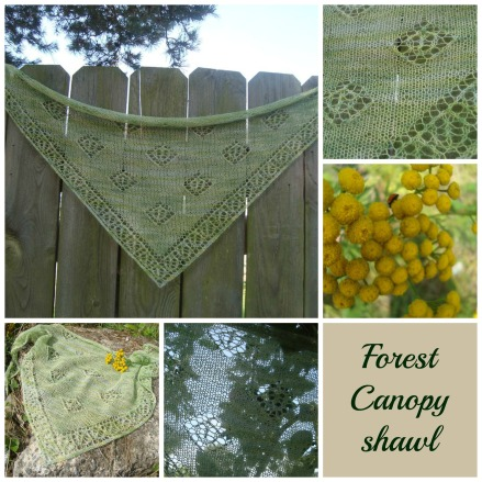 forest canopy shawl mosaik